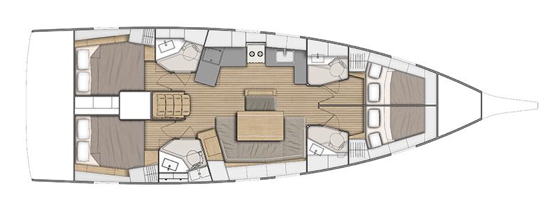 beneteau oceanis 46.1 layout