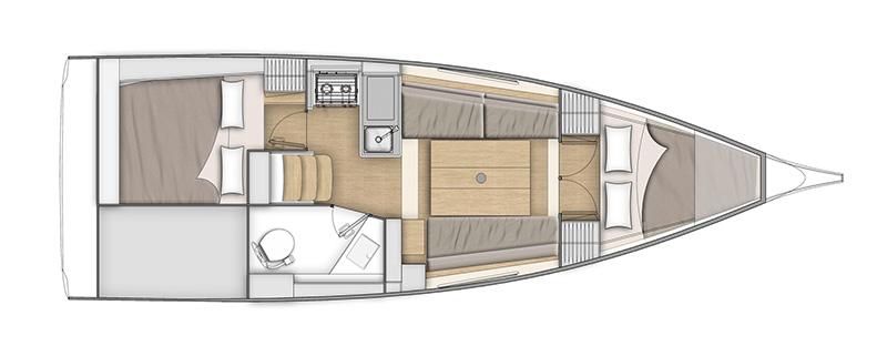Oceanis 30.1 layout